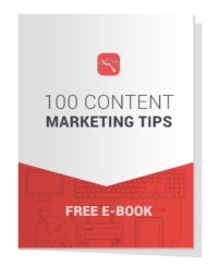 EBOOK Cover - 100 Content Marketing Tips
